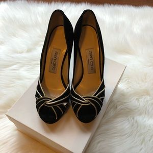 Jimmy Choo Black and Gold size 6 heels